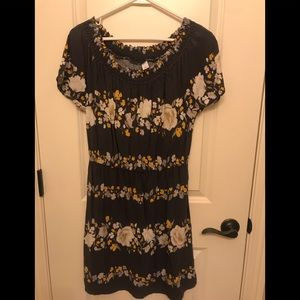 Old navy gray floral dress small